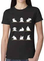 Biglala Bunnies Yoga Women T shirt