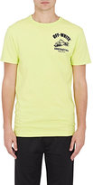 Off-White Men's Cotton Construction-Logo T-Shirt-YELLOW