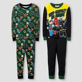 Lego Boys' ; DC Comics Cotton Pajama Set - 4pc