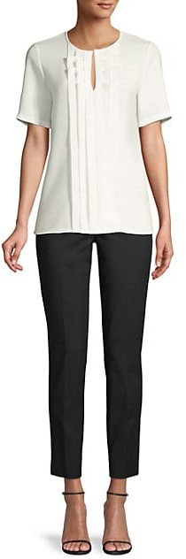 Thumbnail for your product : Lafayette 148 New York Farley Ruffle-Front Blouse