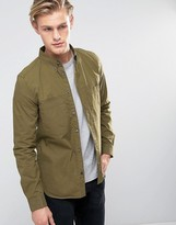 French Connection Military Slim Shirt with Double Pocket
