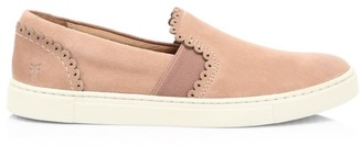 Frye Ivy Scallop Slip-On Suede Sneakers