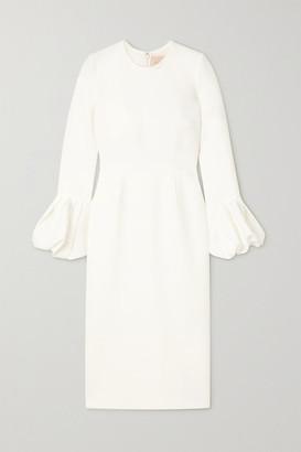 Roksanda Lena Tulle-trimmed Cady Midi Dress - Ivory