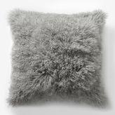 west elm Mongolian Lamb Pillow Cover - Platinum (Square)