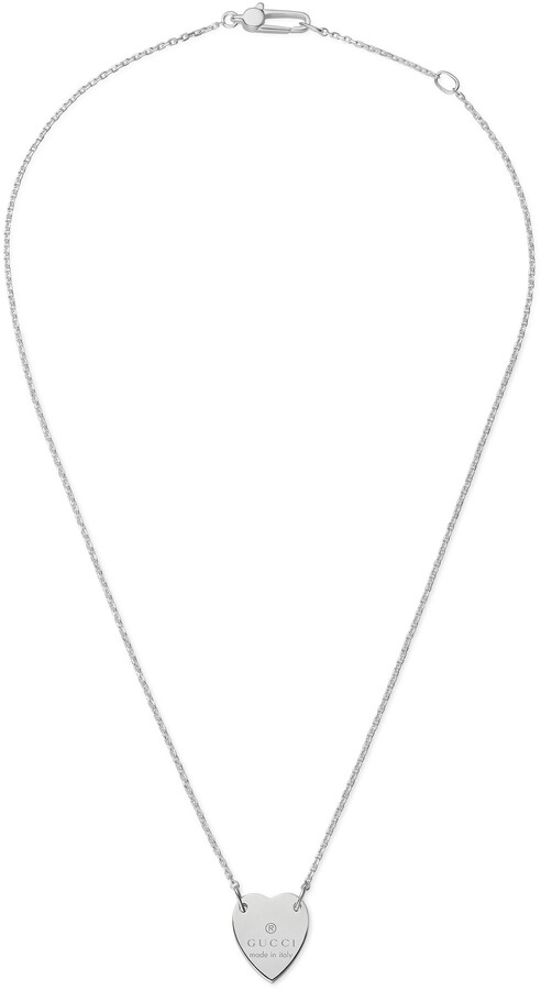 Gucci Heart necklace with trademark