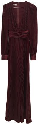 House Of CB Burgundy Velvet Jumpsuits