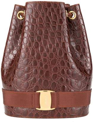 Salvatore Ferragamo Pre-Owned Vara drawstring backpack