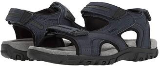 Geox Strada (Navy/Dark Brown) Men's Shoes