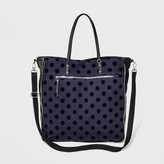 Mossimo Women's Jersey Tote with Velvet Dot Navy