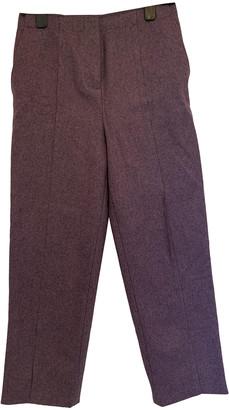 Cos Purple Wool Trousers