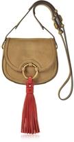 Tory Burch Tassel River Rock Mini Saddle Bag