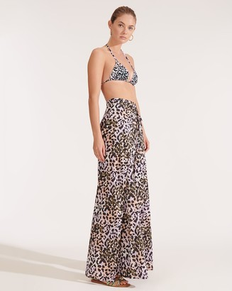 Veronica Beard Nessa Leopard Cover-Up Pant