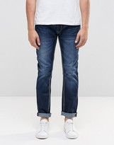 Le Breve Tappered Jeans In Stone Wash