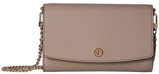 Tory Burch Robinson Chain Wallet (Gray Heron) Wallet Handbags