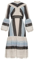Erdem Sandra tri-colour lace dress
