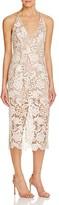 Dress the Population Marie V-Neck Lace Slip Dress