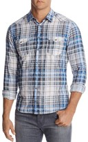 BOSS ORANGE Erodeo Plaid Slim Fit Western Button-Down Shirt