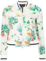 Loveless tropical-print bomber jacket