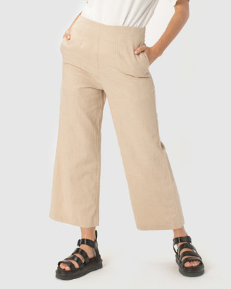 Cools Club - Women's Neutrals Cropped Pants - Easy Pants - Size One Size, 8 at The Iconic