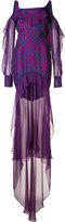 J. Mendel dots print layered dress - women - Silk - 2