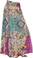 Etro Printed Silk Georgette & Lurex Skirt