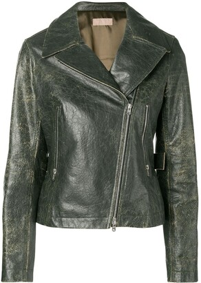 Alaïa Pre Owned 2000 Distressed Biker Jacket