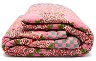 Lisa Corti - Corolla Frida Large Floral-print Cotton Eiderdown - Pink Print