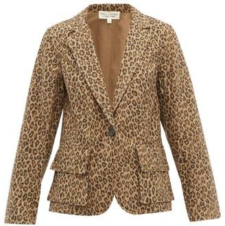 Nili Lotan Addison Leopard-print Cotton Blazer - Leopard