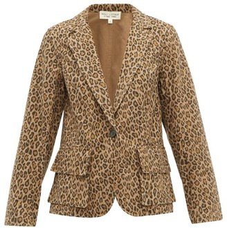 Nili Lotan Addison Leopard-print Cotton Blazer - Womens - Leopard