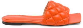 Bottega Veneta Quilted Leather Flat Sandals