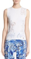 Versace Women's Burnout Knit Shell