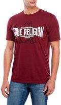 True Religion Burgundy The Original Buddha Tee