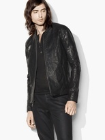 John Varvatos Waxed Leather Motocross Jacket