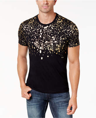 INC International Concepts Inc Men Gold-Foil T-Shirt