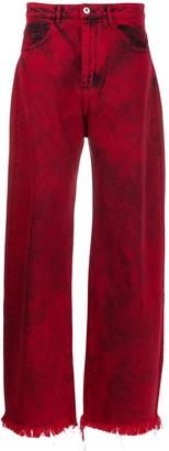 Marques Almeida High Rise Wide Leg Jeans