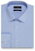 J By Jasper Conran Blue Textured Square Slim Fit Shirt