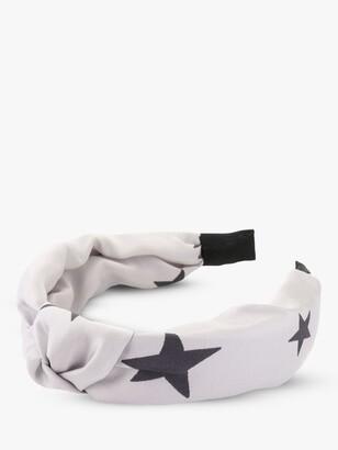 Tutti & Co Wish Star Print Knot Headband, Grey