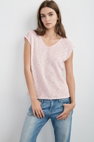 Harmonia Cotton Crochet V-Neck Tee
