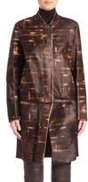 Akris Punto Goslin Convertible Calf Hair Coat