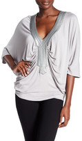 Sky Clemence Pleated Dolman Shirt