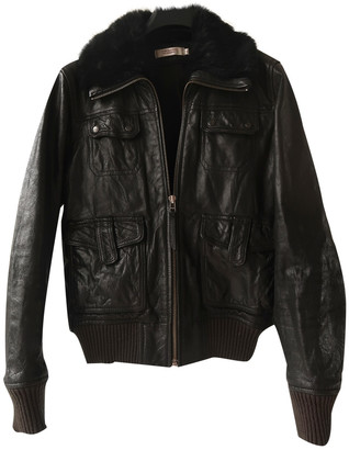 Comptoir des Cotonniers Black Leather Coats