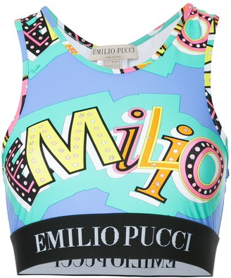 Emilio Pucci Abstract Print Crop Top