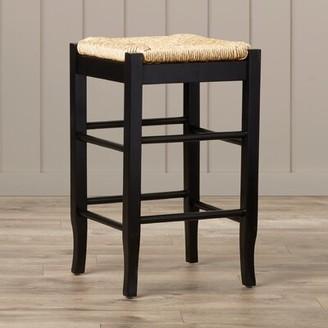 "Beachcrest Home Hogan Bar & Counter Stool Color: Black, Seat Height: Counter Stool (24"" Seat Height)"
