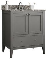"""CNC Costume National Cabinetry Vanguard 30"""" Single Bathroom Vanity Base Only Cabinetry Base Finish: Dove Grey"""