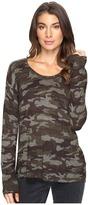 Sanctuary Renee Printed Camo Crew Sweater