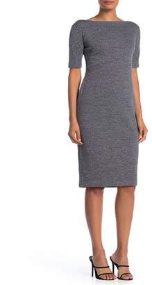 Maggy London Marled Short Sleeve Sheath Dress