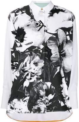 Paul Smith floral print panel shirt