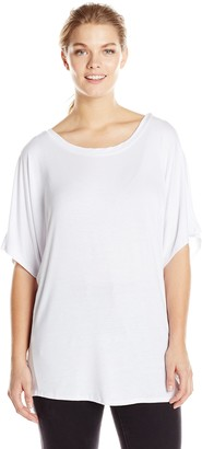 Star Vixen Women's Plus-Size Scoop Neck Dolman Sleeve Comfy Knit Tunic Top