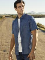 Jeanswest George Short Sleeve Print shirt-Blue-S