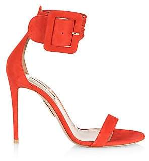 Aquazzura Women's Casablanca Suede Stiletto Sandals